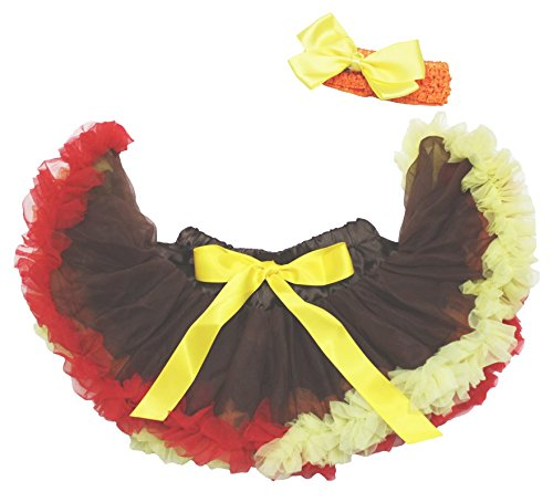 Thanksgiving Dress Brown Rainbow Baby Skirt Tutu Dress Girl Clothing 3-12m (Braun)