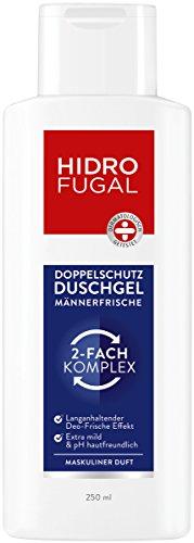 Hidrofugal Duschgel Männer Frische im 6er Pack (6x 250 ml), Doppelschutz Duschgel für Männer reduziert Geruchsbildung und beugt geruchsbildenden Bakterien vor, Duschbad mit maskulinem Duft