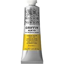 Winsor & Newton Griffin Alkyd - Tubo óleo de secado rápido, 37 ml, tono amarillo de cadmio claro