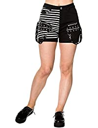 Womens Banned Road To Ruin Shorts (Black)
