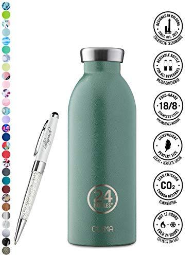 24 Bottles Bottiglia Clima 330 ml   500 ml   850 ml colori diversi 12h cold 24h hot, Contenuto:500 ml, Colore:Moss Green
