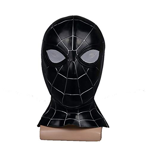 Unbekannt Mask- Spiderman Maske Held Rückkehr Helm Halloween Thema Party Cosplay Requisiten (Farbe : SCHWARZ)