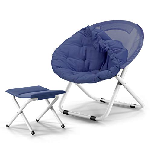 Moon Chair Adult Recliner Klappstuhl Wohnzimmer Schlafzimmer mit großem (Abnehmbarer Baumwollbezug) (Farbe : B) -