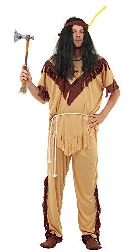 Bristol Novelty ac594X Indischen Mann Kostüm, Braun, -