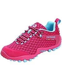 Tefamore Mujer Zapatillas de Senderismo Deportivas Aire Libre y Deportes Montaña Antideslizante Zapatos para Correr Cordones Running…