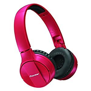 Pioneer SE-MJ553BT-R Bluetooth Wireless Headphone - Red