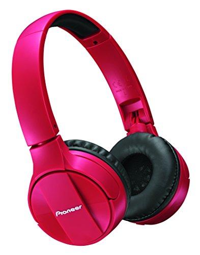 Pioneer SE-MJ553BT Bluetooth On-Ear-Kopfhörer (faltbar, Headset & Mic für Android, Windows und Apple Smartphones, lange 15 Stunden Akkulaufzeit) Rot