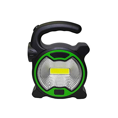 Simxen ABS Portable Ultra Bright High Power 2 Modes COB Spot Flood LED Camping Night Light Work Lights Rechargeable Emergency Lights Lamp for Outdoor Sports (Black)