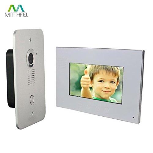 2 Draht Video Türsprechanlage Gegensprechanlage 7 Zoll Monitor