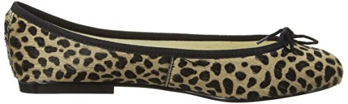 French Sole Inida Leopard, Ballerines Femme Beige (Leopard)