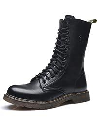 uBeauty Damen Martin Stiefel Flache Boots Klassischer Stiefeletten Schnüren  Freizeitschuhe Stiefeletten gefüttert Damen Stiefel… 2b56dbac14