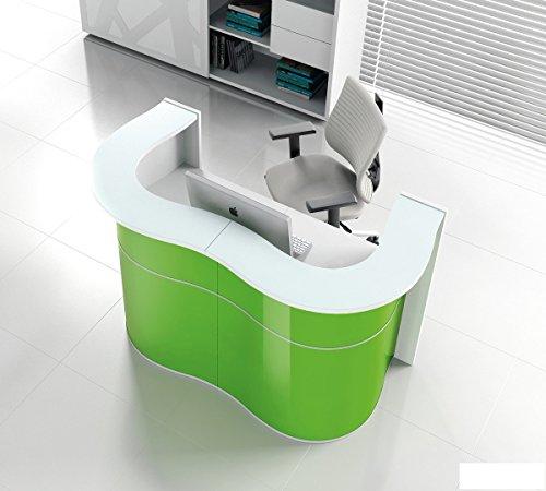 Empfangstheke WAVE grün Empfangstresen Rezeption Bürotheke