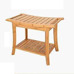 Folding Chairs Baño de bambú Alpino Taburete Antideslizante Viejo Taburete de baño Creativo Taburete de bambú, Puede soportar 100 KG