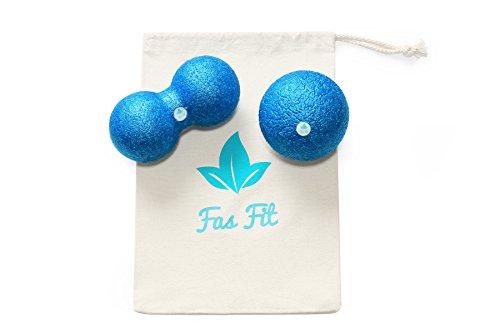 Faszienball Duo Set: Einzel- und Duo-Ball + Baumwolltasche