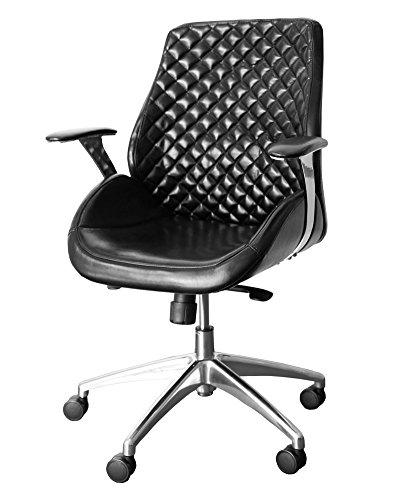 212620 Bürodrehstuhl Designer Drehstuhl Chefsessel PANTERA black ClassicCarSeat