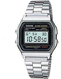 Casio A158WA-1DF - Reloj digital de cuarzo para hombre, con correa de metal