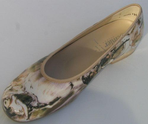 Semler D2128-057-081 Desiree femme Ballerine largeur H beige/oliv