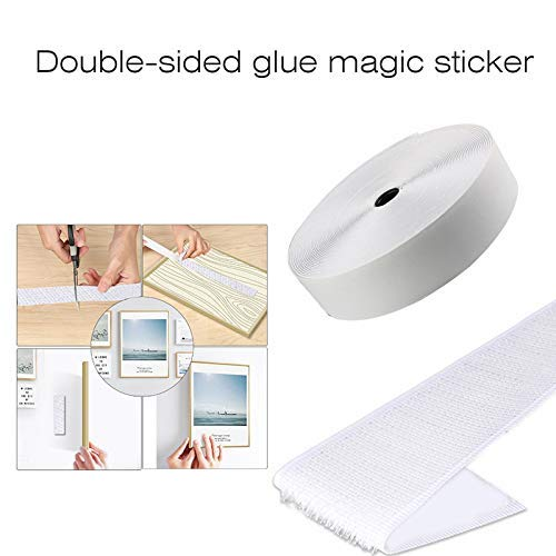 Honsin Hook and Loop Magic Tape Self Adhesive Sticky Back Fastener Nylon for DIY Craft -