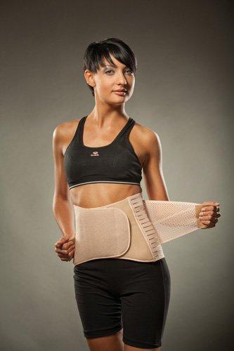Hochwertige Rückenbandage/Rückenstütze LOREY-LU04003; Materialmix Größe XL