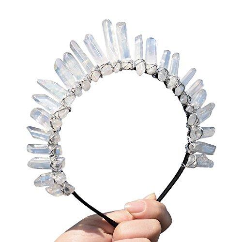 GRACEART Kristall Quarz Tiara Meerjungfrau Krone Stirnband ()