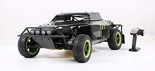 Monster Truck 4WD RC Off Road Fahrzeug -Mit 36-cm³-Kraftstoffmotorbewegung - Walbro1107-Vergaser - NGK-Zündkerze - 800-cm-Kraftstofftank (1: 5-Fahrzeugmodell),Black