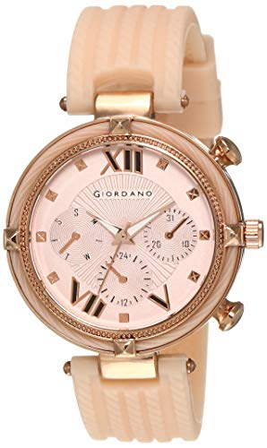 Giordano Multifunction Rose Gold Dial Women's Watch