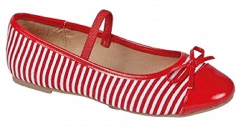 Koo-T ,  Mädchen Ballerinas Red/White Striped