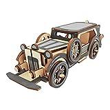 Fenteer Holz 3D DIY Montage Auto Puzzle Holzpuzzle Modellbausatz Spielzeug Geschenk