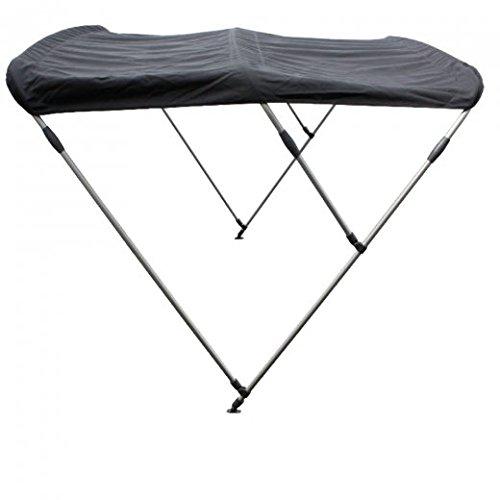 Sonnensegel / Bimini für Schlauchboote mit Halterungen in schwarz 130 cm -