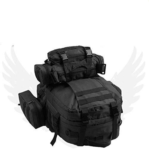 50L Molle Taktisch 3 Day Assault Militär Rucksack/Armee Rucksack/Zelten Tasche - Schwarz, 50 Litre (Zelte Rucksack)
