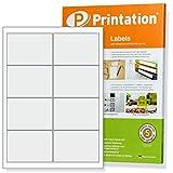 Etiketten 97 x 67,7 mm selbstklebend weiß - 80 Stk / 10 A4 Blätter 2x4 - Frankier Stampit 3660 4782