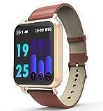 Love Life Intelligente Uhr wasserdicht, Sport- und Fitness-Tracker für Männer und Frauen, Puls- / Schlafüberwachung, Kalorienzähler, kompatibel mit iPhone/Samsung- und Android-Handys,Brown