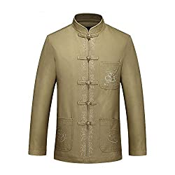 ZooBoo Chinese Clothing Tang Suit - Traditional Ancient Costume Martial Arts Tangzhuang Kung Fu Long Sleeve Jacket Suits Shirt Uniform Cloth for Men and Women - Cotton and Linen by ZooBoo
