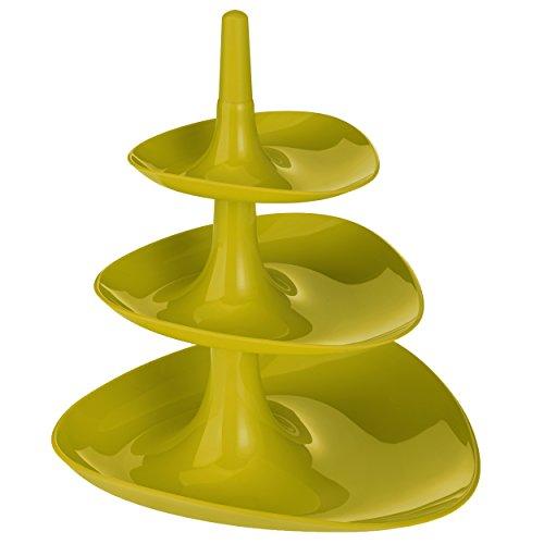 koziol étagère Betty, thermoplastic, mustard green, 24.1 x 24.4 x 27.1 cm