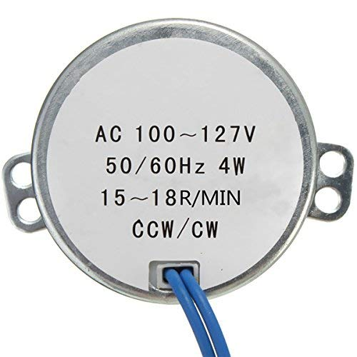 SUCAN Plattenspieler-Synchronmotor Robust 50 / 60Hz AC100-127V 4W 15-18RPM