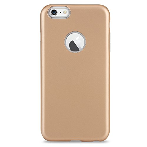 FindaGift iPhone 6 Plus/6s Plus Hülle, Weicher Fall TPU + PC Handycover Hybrid 2 in 1 Case Stoßfest Back Case Schutzhülle Anti-Rutsch Case Ganzkörper-Schutzschale für iPhone 6 Plus / iPhone 6s Plus Sc Golden