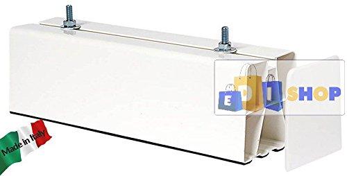 VECAMCO Base A Pavimento Bianca BIESTRUSA + Tappi 450 MM 2 PZ, Installazione condizionatore climatizzatore