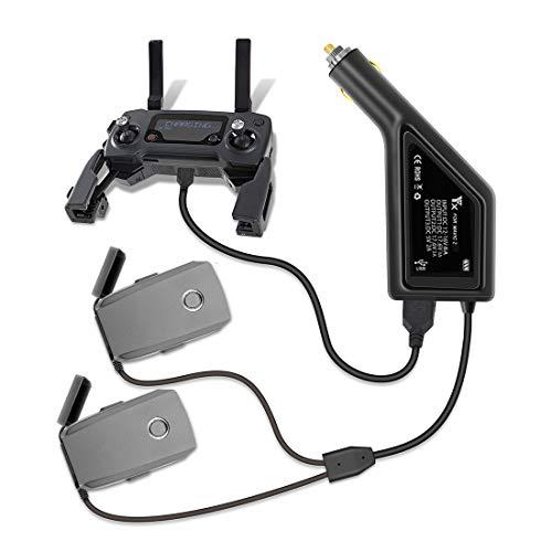 MRKE 3 IN 1 Cargador Coche con Interfaz USB para dji Mavic 2, Segura RC Carga Rápida Car Charger para dji Mavic 2 Pro / Mavic 2 Zoom Drone Batería