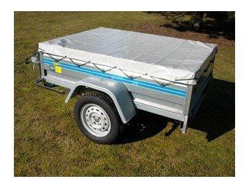 Bache remorque 680g /m² - 2.00mx1.34mx0.10m - Avec Sandow et Attaches Offerts - Protection remorque voiture - petite remorque