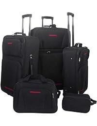 Set de maletas de viaje 5 piezas (Negro)