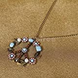 Alcoa Prime Hot Fashion Anti-war Colorful Peace Sign Flower Power Style Pendant Necklace
