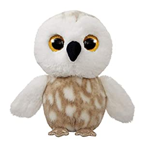 Aurora World 61285 Snowee The Snowy Owl - Peluche de búho, Color Gris y Blanco
