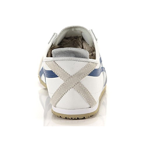 Onitsuka Tiger Mexico 66, Unisex-Erwachsene Low-Top Sneaker Weiß (WHITE/NAVY BLUE 0150)