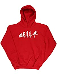 HippoWarehouse Rugby Player Evolution kids childrens unisex Hoodie hooded top