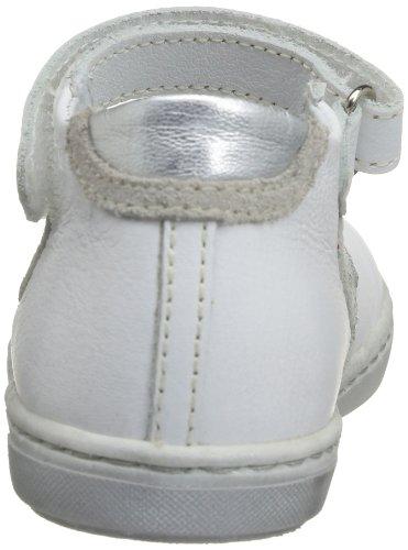 Little Mary Perrine, Chaussures basses à scratch bébé fille Blanc (Nappa Blanc D Peau/S Dolly)