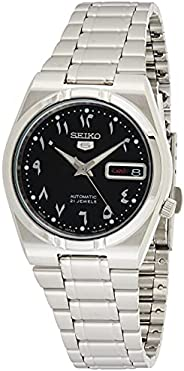 Seiko Men's Black Dial Stainless Steel Band Watch - Snk063J5, Silver Band, Analog Display, Snk0