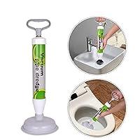 Abflußreiniger XREXS Toiletten-Luftstößel - leistungsstarker Abfluss-Kolben mit 2 Art Saugnäpfen, Multifunktionale Reinigungspumpe verwendbar für Toilette, Badewanne, Dusche, Wanne