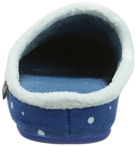Sheepworld 320396, Chaussons mixte adulte Bleu (Blau)