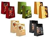 10 Geschenktüten Weihnachten 10 Motive Medium M 23 x 18 x 10 cm Weihnachtstüten Geschenktaschen Papier-Tragetaschen 22-2021