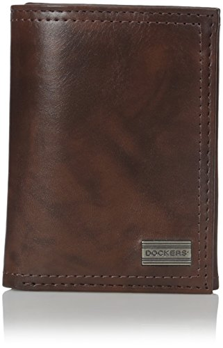 dockers-mens-monroe-trifold-wallet-with-ornament-brown-one-size